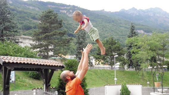 Ismar Mesinovic con il figlio Ismail