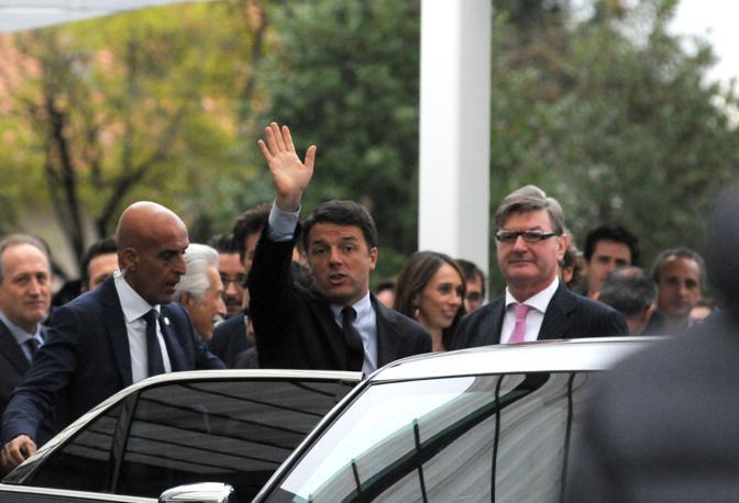 Montebelluna Renzi visita la Geox di Polegato