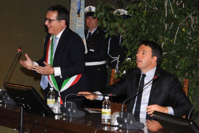 Renzi col sindaco di Treviso Giovanni Manildo