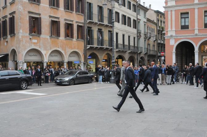 In piazza dei Signori