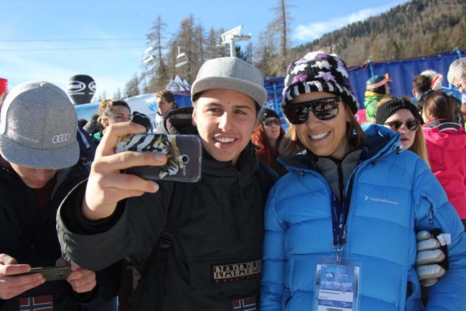 Cortina, coppa del mondo di sci femminile. Debora Compagnoni