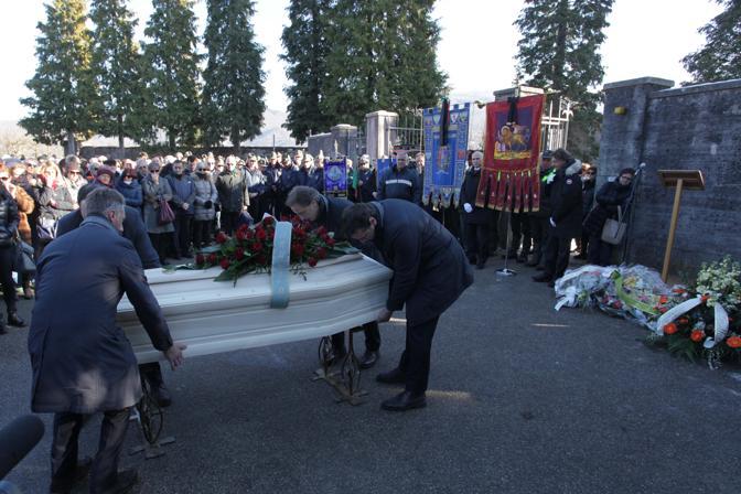 Il funerale di Sergio Reolon a Castion (Belluno)