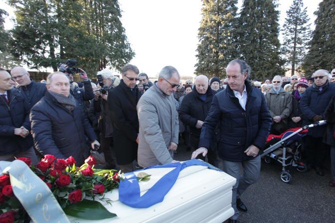 Anche Luca Zaia è venuto a dare un ultimo saluto a Sergio Reolon