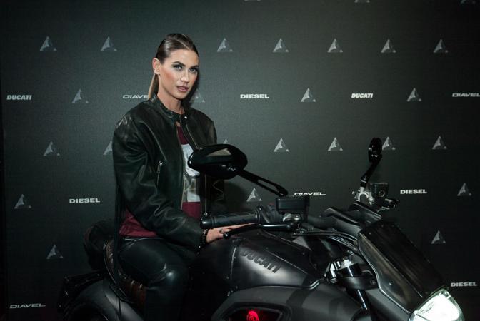 Melissa Satta ad un evento Diesel a Milano