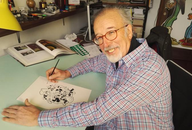 Giorgio Cavazzano al lavoro