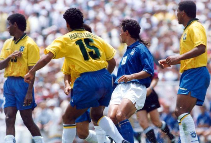Uno scatto della finale del Mondiale '94, giocata a Pasadena e vinta dal Brasile 3 a 2 dopo i calci di rigore.