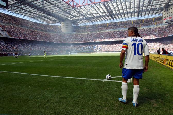 16 maggio 2004: Milan-Brescia fu l'ultima partita di Roberto Baggio prima di lasciare il calcio giocato
