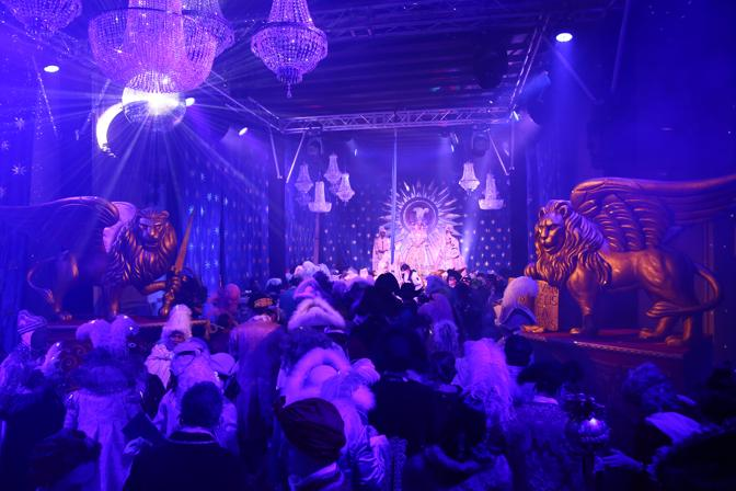 Uno dei tanti momenti dell'evento più prestigioso del Carnevale di Venezia