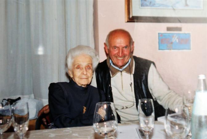 Con Rita Levi Montalcini