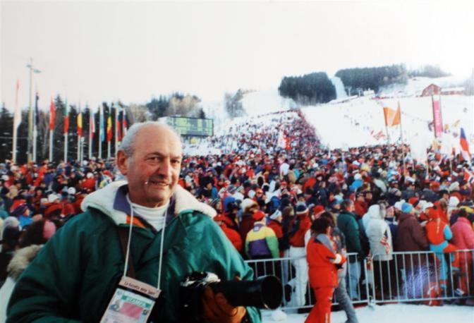 Ad una gara di sci