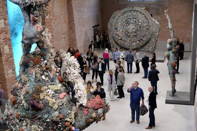 Venezia, inaugura la mostra Damien Hirst a Punta della Dogana (Andrea Pattaro/Vision)