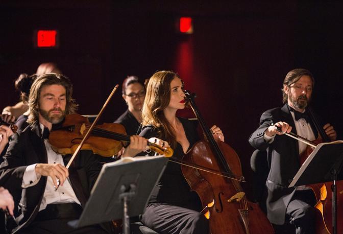 L'orchestra sul set