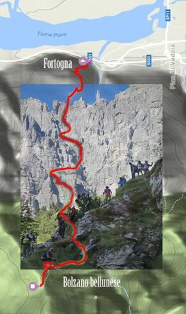 Percorso in montagna con la App