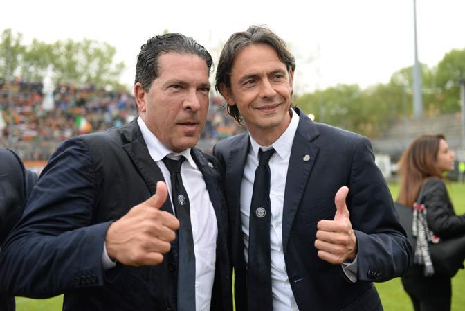 Il presidente Joe Tacopina e Filippo Inzaghi