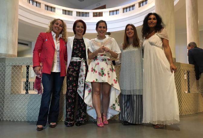 La sfilata Lions: le super modelle per una notte Rue21, tra cui le giornaliste Damiana Schirru e Elisa Billato