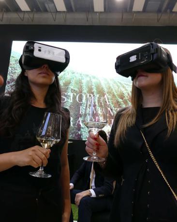 Visita virtuale delle vigne e cantine allo stand di Villa Sandi al Vinitaly