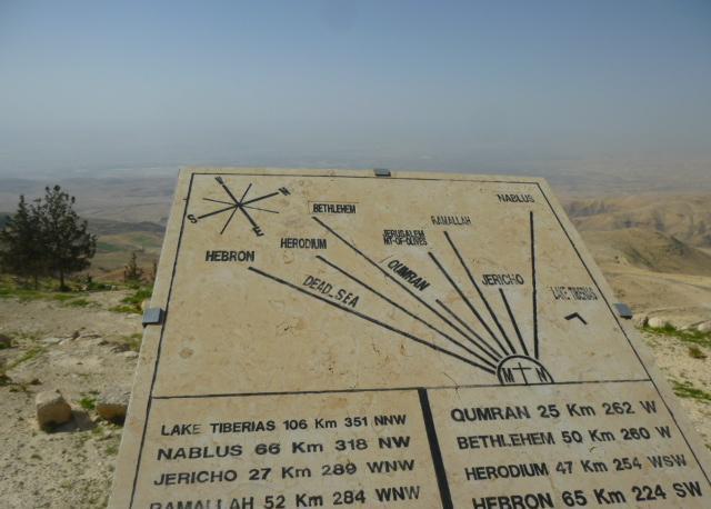 Il monte Nebo, retto da una comunità religiosa francescana. L'orizzonte che vide Mosè