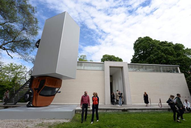 Venezia. Biennale Arte 2017, giardini di Castello. Il Padiglione austriaco