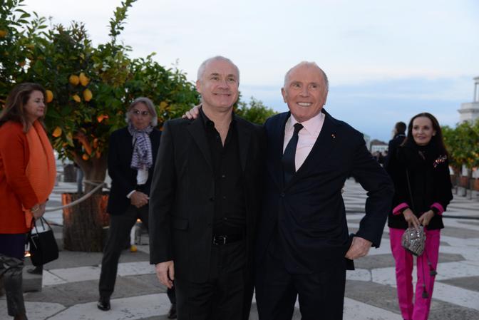Ricevimento di Pinault alla Fondazione Cini. François Pinault e l'artista inglese Damien Hirst