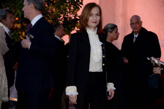 Ricevimento di Pinault alla Fondazione Cini, Isabelle Huppert