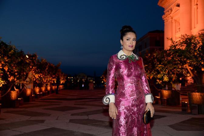 Salma Hayek al ricevimento di Pinault alla fondazione Cini