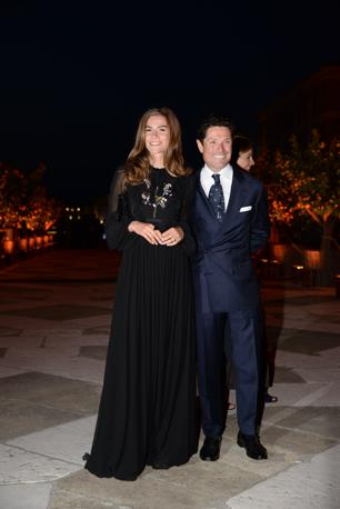 Matteo Marzotto con la fidanzata al ricevimento di Pinault alla Cini