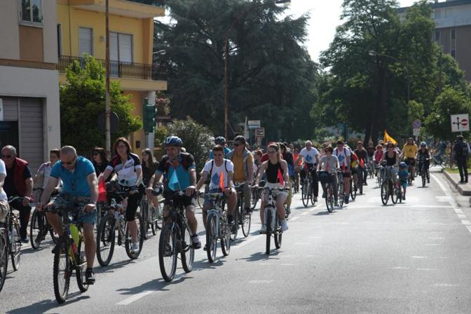 I partecipanti alla marcia a Trissino