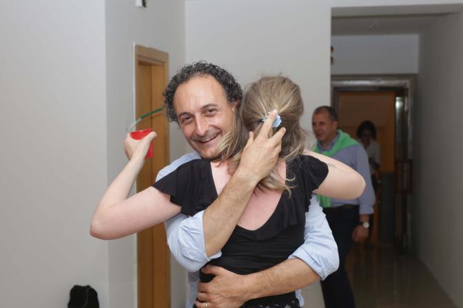 Belluno, festa per la vittoria di Jacopo Massaro