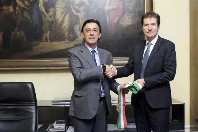 «Il passaggio di consegne» a Sergio Giordani