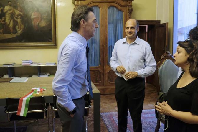 Il sindaco Sergio Giordani con Arturo Lorenzoni