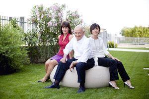 Cristina e Paola Tosi con papa' Bruno fondatore dell'azienda Pegaso srl di Negrar Verona