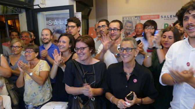 La notte elettorale della candidata Salemi (Sartori)