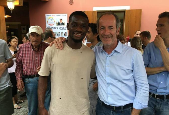 La foto postata da Zaia su Facebook col Isaac Donkor, giocatore dell'Inter in prestito al Cesena