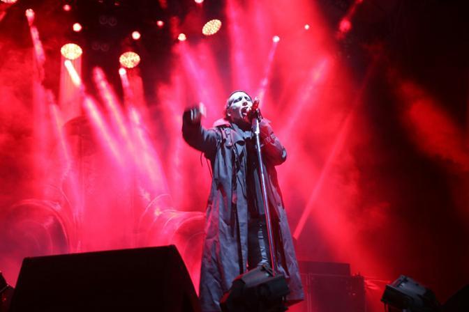 Lo show di Marilyn Manson a Villafranca