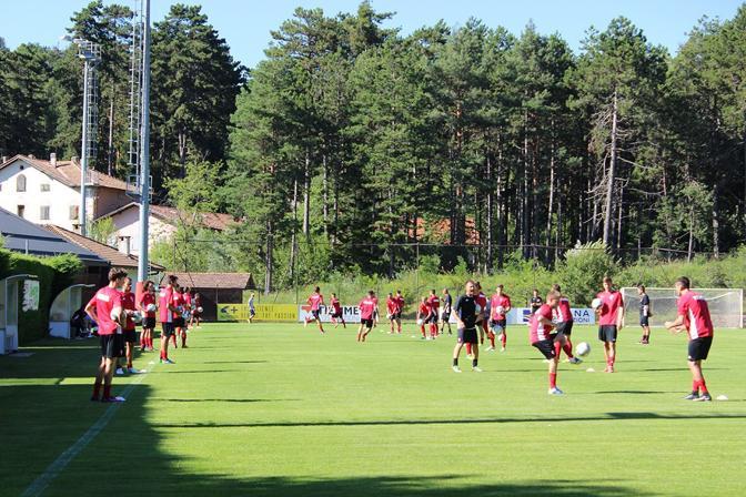 Il Padova sul campo d'allenamento