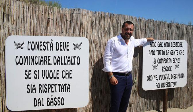 Chioggia salvini visita il lido fascista corriere veneto - Bagno punta canna sottomarina ...