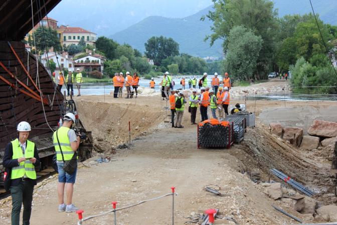 Sopralluogo sul Ponte degli Alpini a Bassano del Grappa