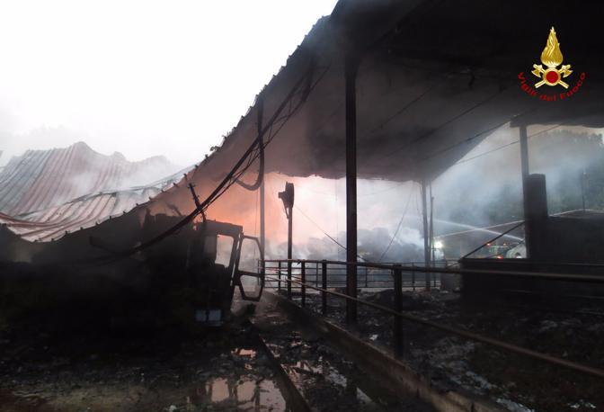 L'intervento dei pompieri a San Giorgio in Bosco