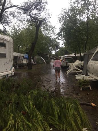 I danni al camping Union Lido di Cavallino