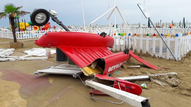 Jesolo, danni ingenti allo stabilimento Nemo Beach
