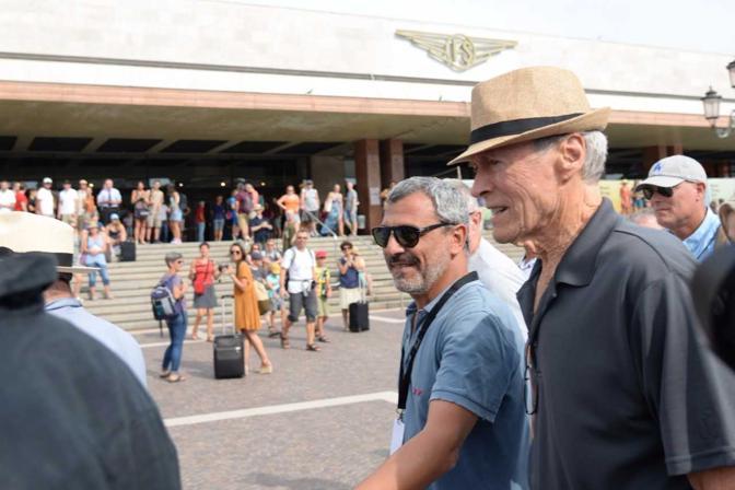 Clint Eastwood in stazione a Venezia (Andrea Pattaro/Vision)