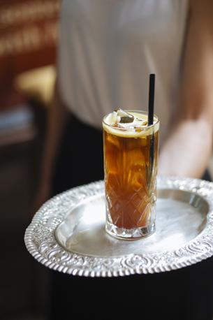 Vermouth, verduzzo e succo d'arancia