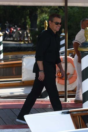 Mostra del Cinema, l'attore Matt Damon arriva all hotel Excelsior