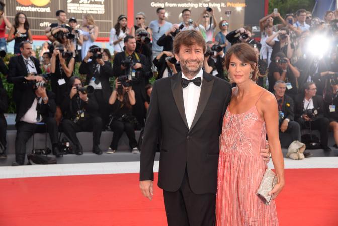 Mostra del Cinema, la cerimonia di apertura. Il Ministro Dario Franceschini con la moglie