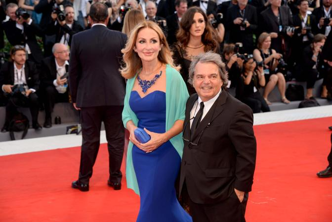 Mostra del Cinema, la cerimonia di apertura.Renato Brunetta con la moglie