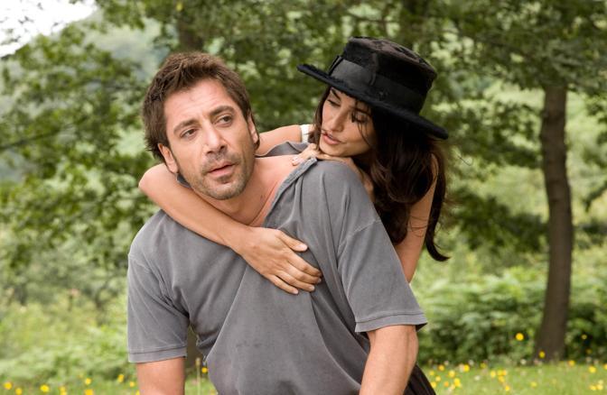 Un'immagine di scena del film «Vicky Cristina Barcelona» di Woody Allen, Penelope Cruz e Javier Bardem